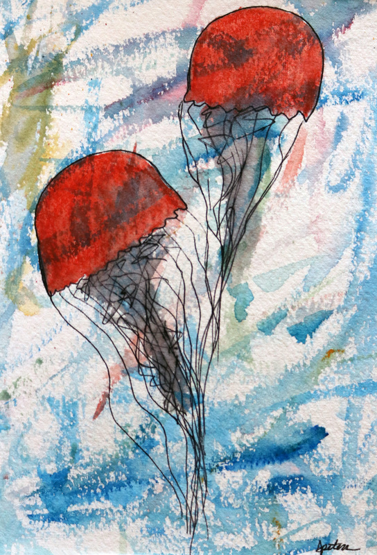 Jellyfish watercolor
