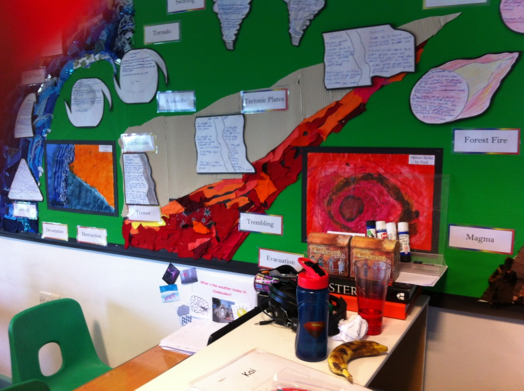 paintings by students natural disasters