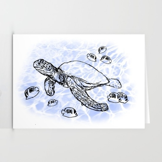sea turtle cards