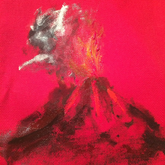 red volcano