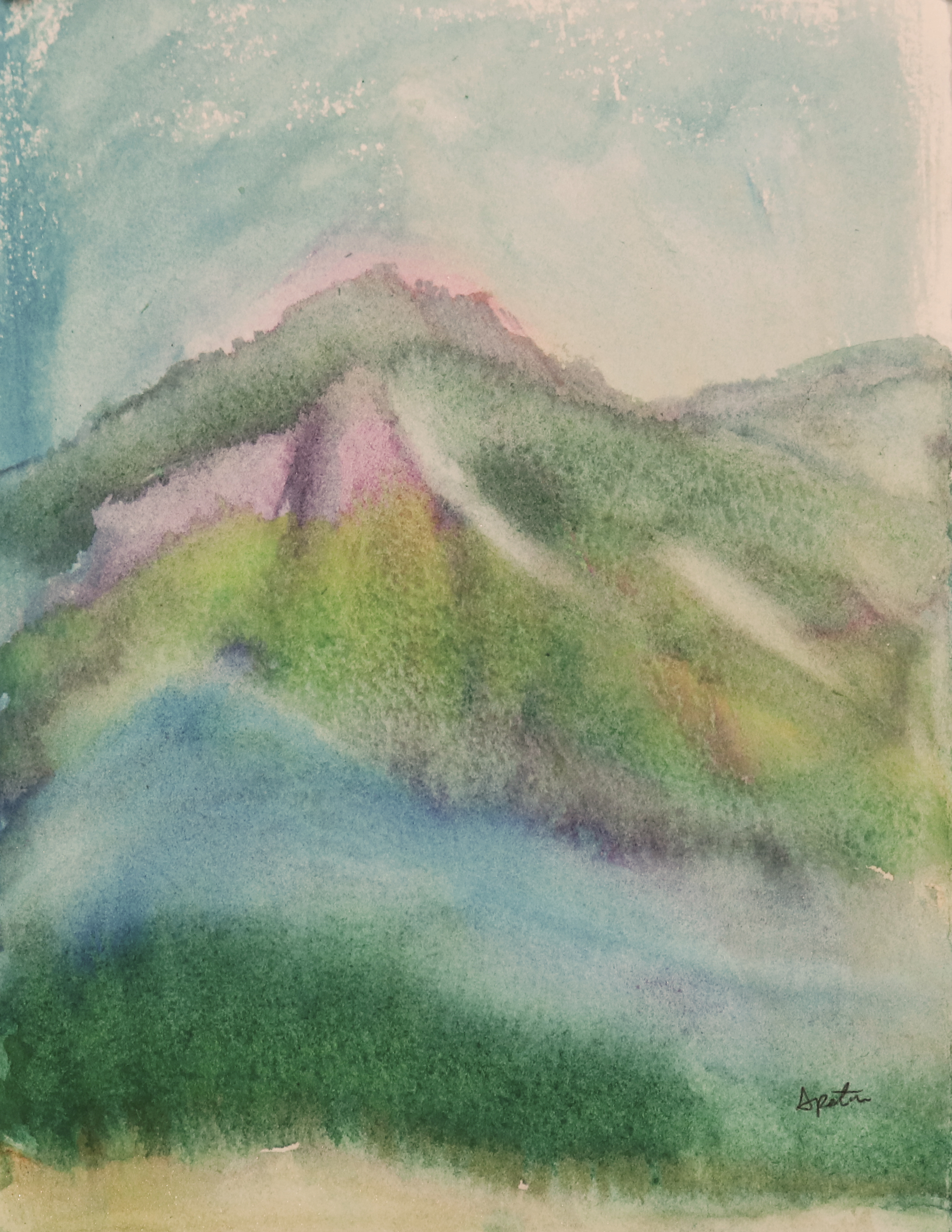 mountain watercolor