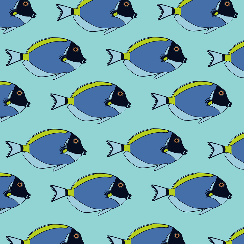 Powder blue tang blue pattern