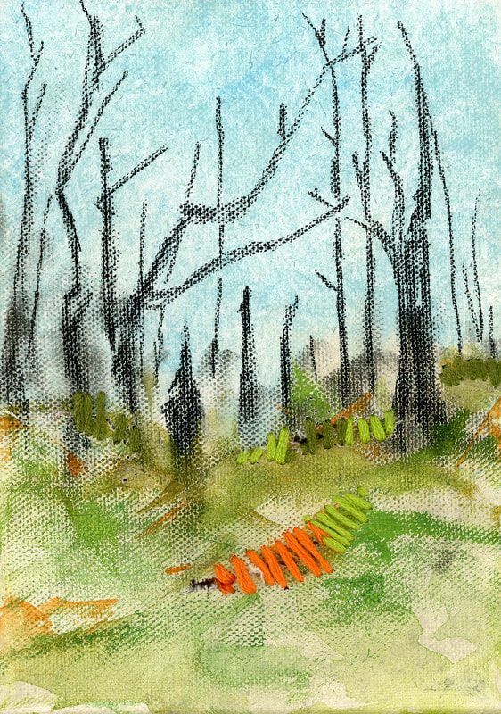 after wildfire painting